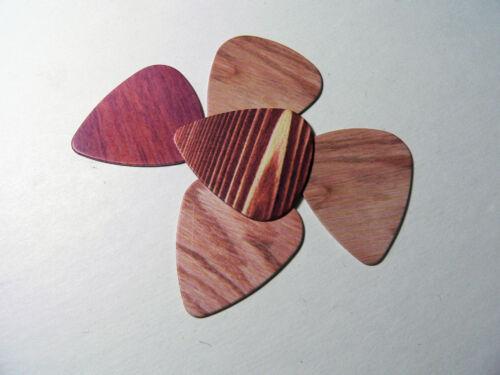Holzeffekt Plektren Set von 3 Dünn Messgerät Träne Gitarren Plektrum