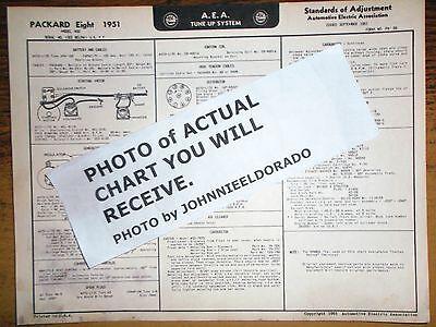 1951 packard eight series 400 models aea tune up \u0026 wiring chart sheet ebay  1950 packard wiring diagram
