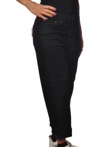 Jeans Nero 5164817l183957 Dondup Donna Gamba Dritta pantaloni Xgdqxw7