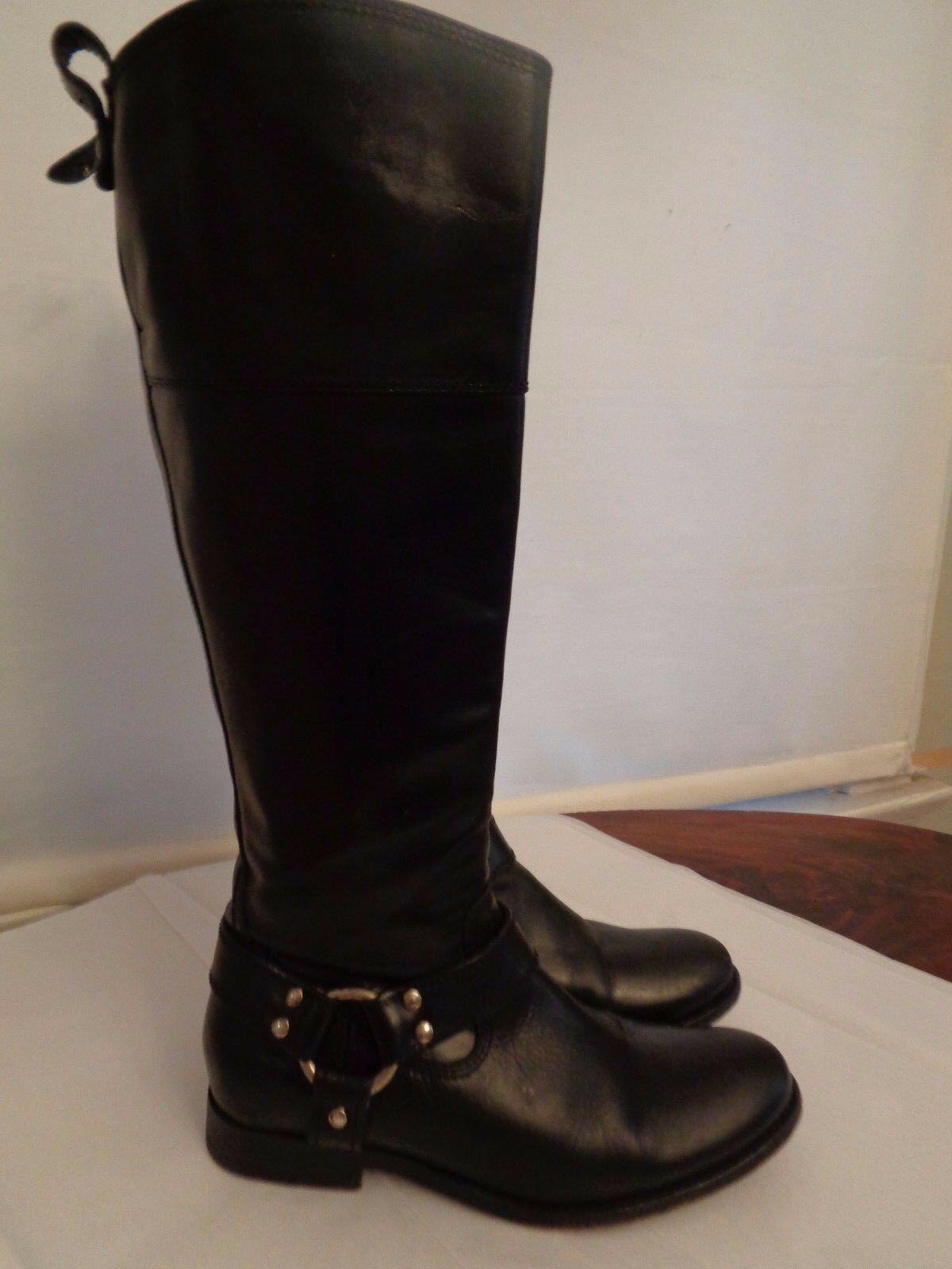 FRYE  Melissa  equestrian riding harness boots 100% leather women's size 6 B
