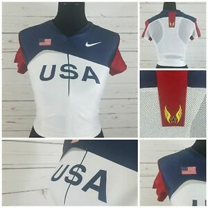 Nike-Olympic-2000-USA-Track-amp-Field-Jersey-Large-Built-In-Womens-Sports-Bra