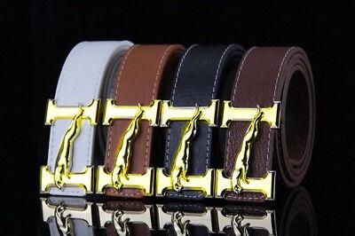 "New Sell Fashion Men/'s Women Belts Couple Leather/""G/"" Buckle Waist Belt Waistband"