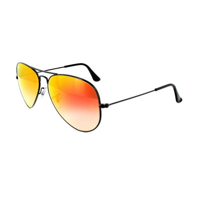add52c4bbb9 Ray-Ban Sunglasses Aviator 3025 002 4W Black Orange Gradient Flash Mirror M