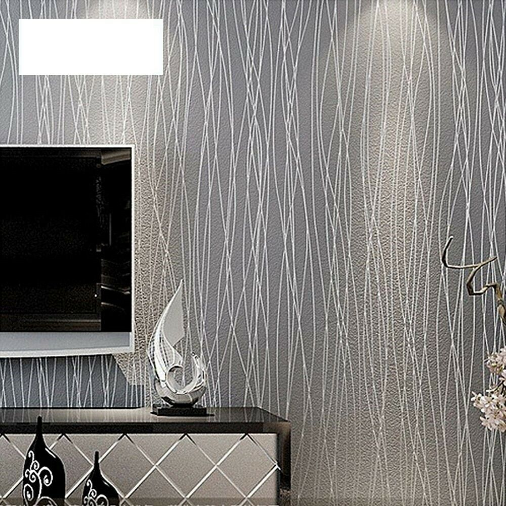 Scandi Wood Grain Effect Grey Silver Wallpaper High Quality Uk