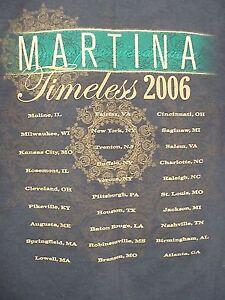 Martina-McBride-T-Shirt-Size-Medium-Timeless-Tour-2006-Brown