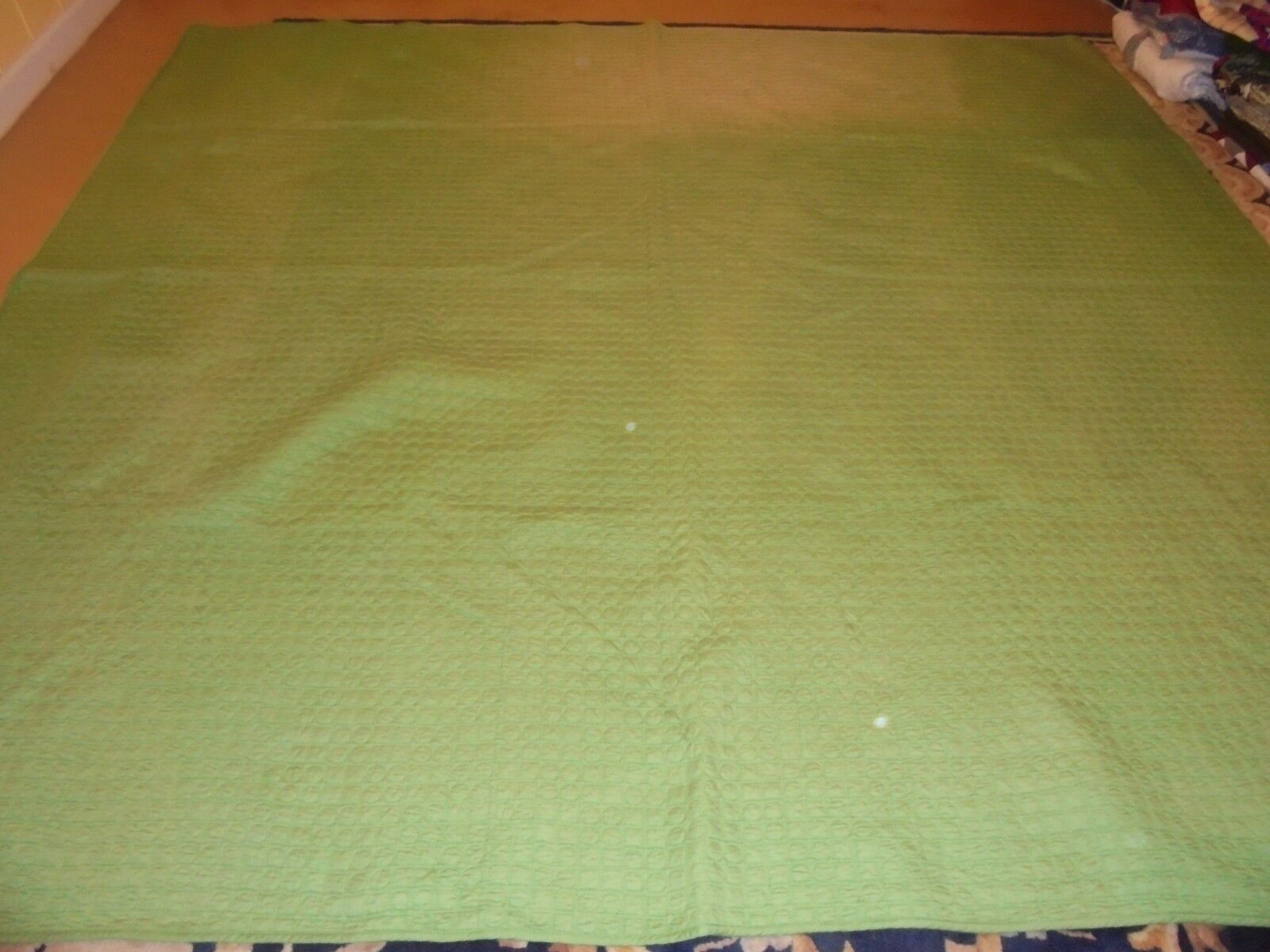 Nice Reversible Green Whole Cloth Quilt