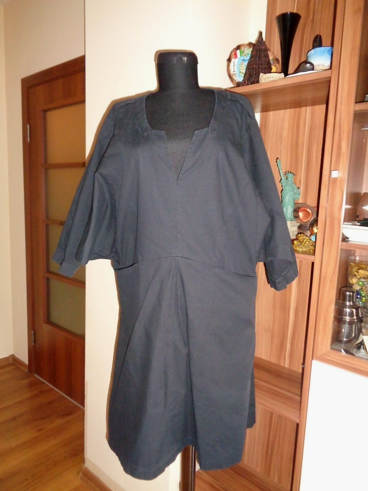 HOPE BY RINGSTRAND SODERBERG ASH ANTRACITHE COTTON RELAXED TUNIC DRESS-SIZE 38
