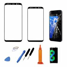 Black Replacement Screen Glass Lens Repair Tool Kit for Samsung Galaxy S8 Plus