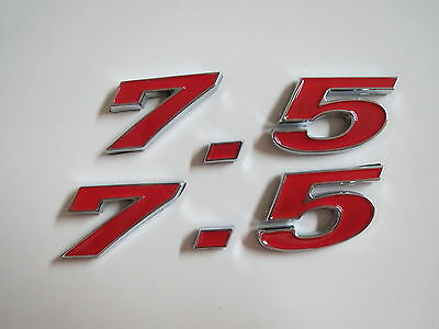 RED FORD 460 ENGINE ID FENDER HOOD SCOOP QUARTER TRUNK EMBLEMS