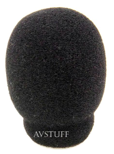 MICROPHONE 25mm SMALL FOAM WIND SOCK SHIELD WINDSOCK BLACK