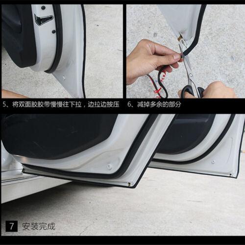 16FT//5M Black Car Door Moulding Rubber Scratch Protector Strip Edge Guard Trim
