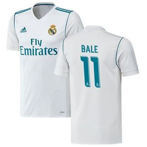 huge selection of f008f 339ec adidas Real Madrid 2017 - 2018 Gareth Bale # 11 Home Soccer ...