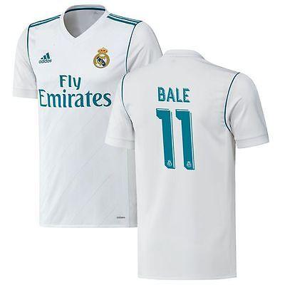 adidas Real Madrid 2017-2018 Gareth Bale # 11 Away Soccer Jersey Brand New