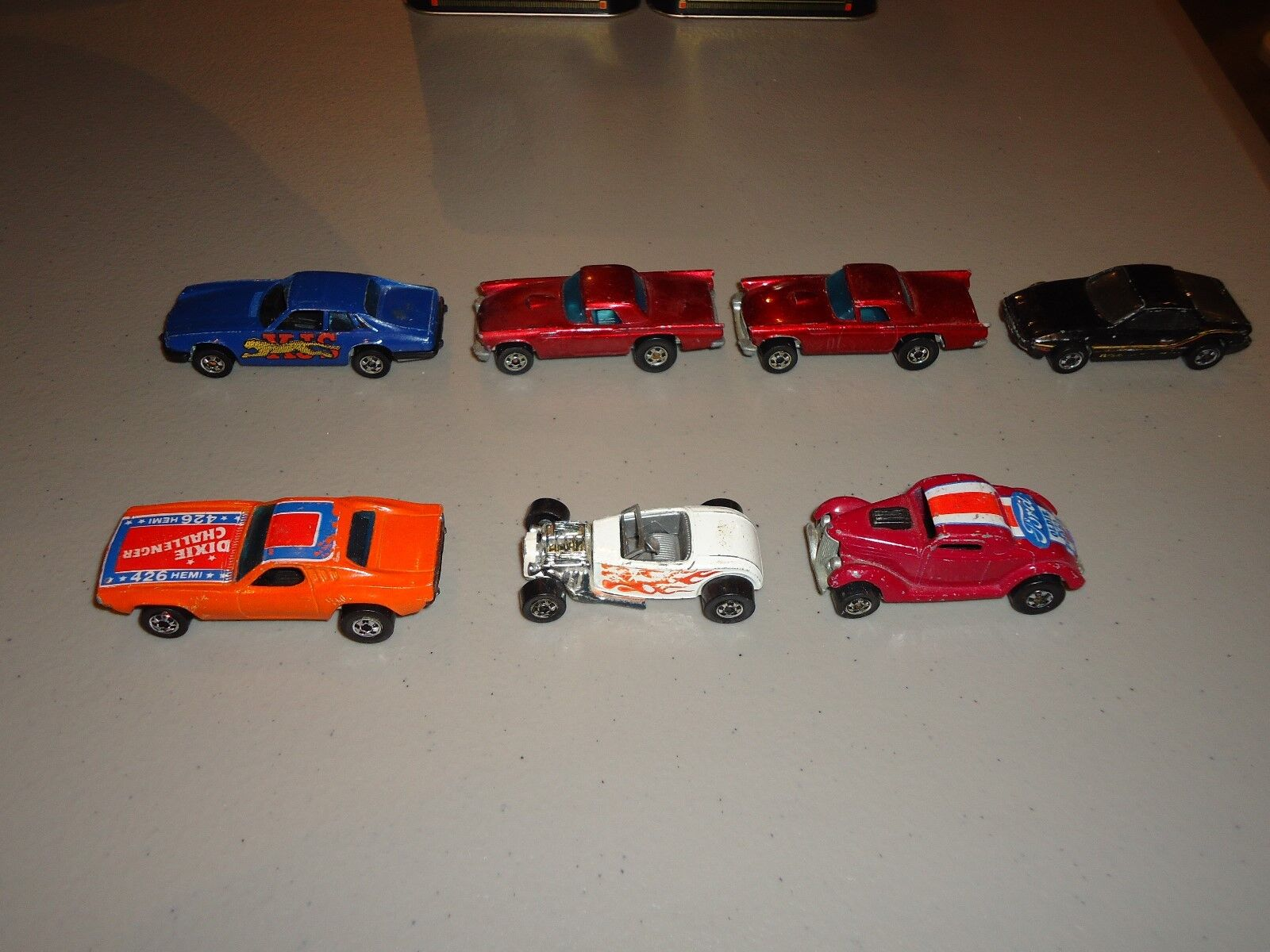 Lote de Hot Wheels, Dixie Challenger, 57 T-Bird, NEET Streeter, JAGUAR XJS, por adelantado