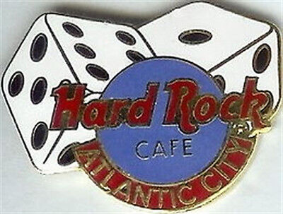 Hard Rock Cafe ATLANTIC CITY 1996 Dice & HRC Logo PIN