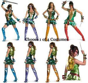 Image is loading Adult-TMNT-Sexy-Mutant-Ninja-Turtles-Turtle-Costume  sc 1 st  eBay & Adult TMNT Sexy Mutant Ninja Turtles Turtle Costume | eBay