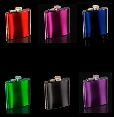 x100 wholesale Lot of 100 Stainless Steel Hip Flask 7oz