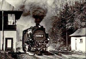 Eisenbahn-DDR-Motiv-Postkarte-Schmalspurbahn-Freital-Hainsberg-Bahnhof-KIPSDORF