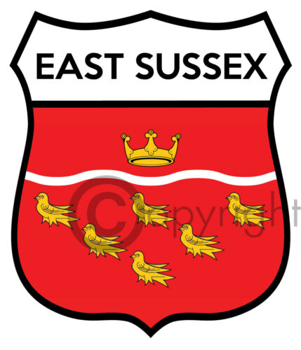 East Sussex car decal Sticker Badge