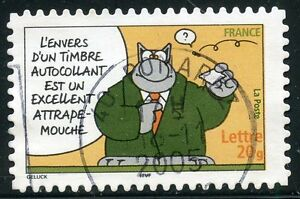 Timbre France Autoadhesif Oblitere N° 56 Sourires / Le Chat / Philippe Geluck