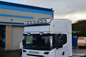 Pour-Scania-P-G-R-Serie-Pre-2009-Highline-Toit-Leger-Barre-Rectangle-Pois-x6