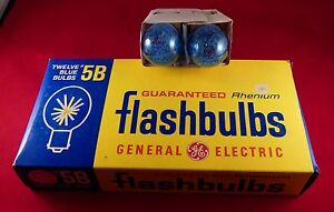 12 General Electric 5B 5 B Flash Bulbs