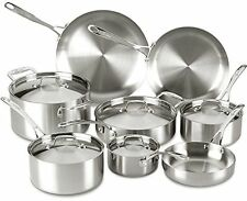 Lagostina Axia Tri-Ply Stainless Steel 13 Piece Cookware Set Q555SD64 NEW