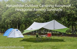 Image is loading Naturehike-Hexagonal-Sun-Shelter-Waterproof-Awning-C&ing -Sunshade- & Naturehike Hexagonal Sun Shelter Waterproof Awning Camping Sunshade ...