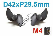 1 Set D42mmxP29.5 Left & Right RC Boat Propellers, M4 Threaded US TH038-01403/07