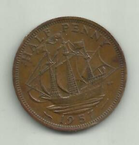 1957 calm sea halfpenny - bradford, United Kingdom - 1957 calm sea halfpenny - bradford, United Kingdom