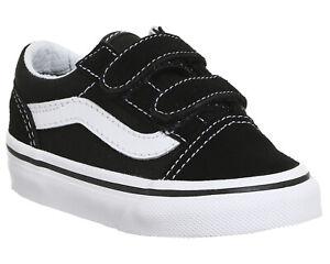 I-bambini-Vans-Old-Skool-Sneaker-Nero-Vero-Bianco-Kids