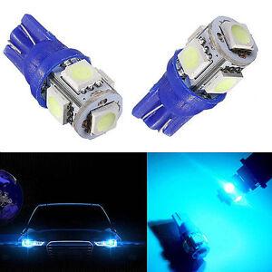 5Pcs Car Ice Blue T10 W5W 5SMD LED Wedge Light Plate License 168 194 2825 Bulbs 190672283563