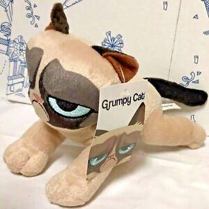 """New Grumpy Cat 7"""" Plush Toy Factory Doll Kitty Kitten Stuffed Animal Laying NWT"""