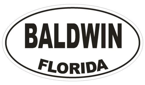 Baldwin Florida Oval Bumper Sticker or Helmet Sticker D1369 Euro Oval