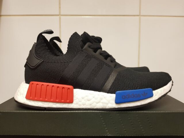 441dcfce1434 Adidas Nmd R1 OG Black Lush Red Blue S79168 UK 5 US 5.5 EU 38 Primeknit