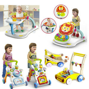 4-in-1-Sit-to-stand-Baby-Walker-Stroller-Stroller-Toddler-Hand-Trolley-Music-Toy