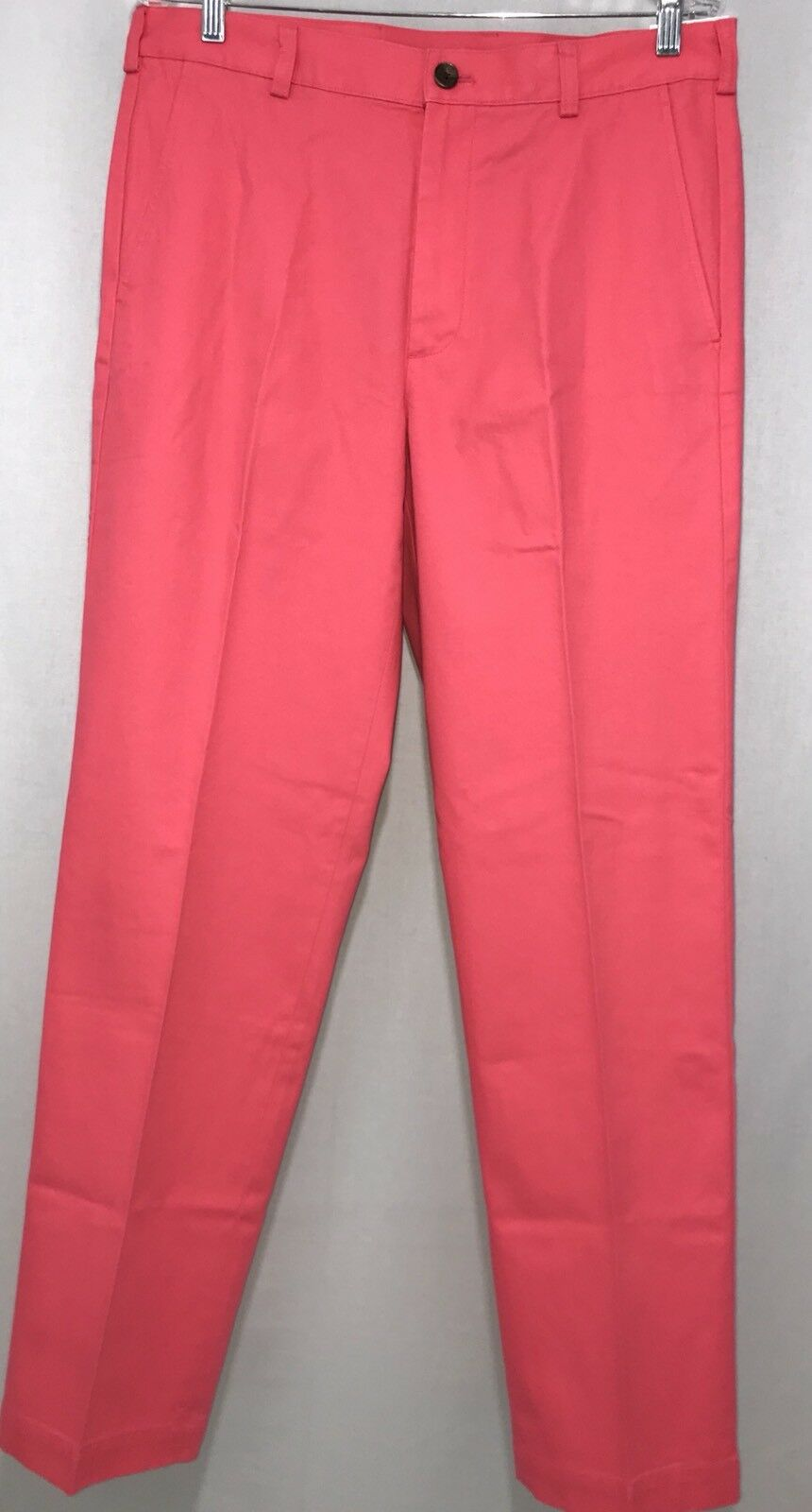 Men's Brooks Bredhers Bright Pink 34x32 346 Clark Cotton Casual Pant