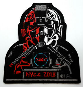 Star-Wars-NYCC-2018-TIE-Fighter-Pilot-4-034-Embroidered-Patch-USA-Mail-SWPA-KL34