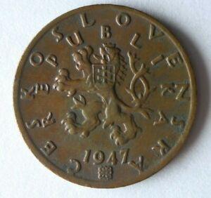 1947 CZECHOSLOVAKIA 50 HALERU - Excellent Coin Czech Bin #1