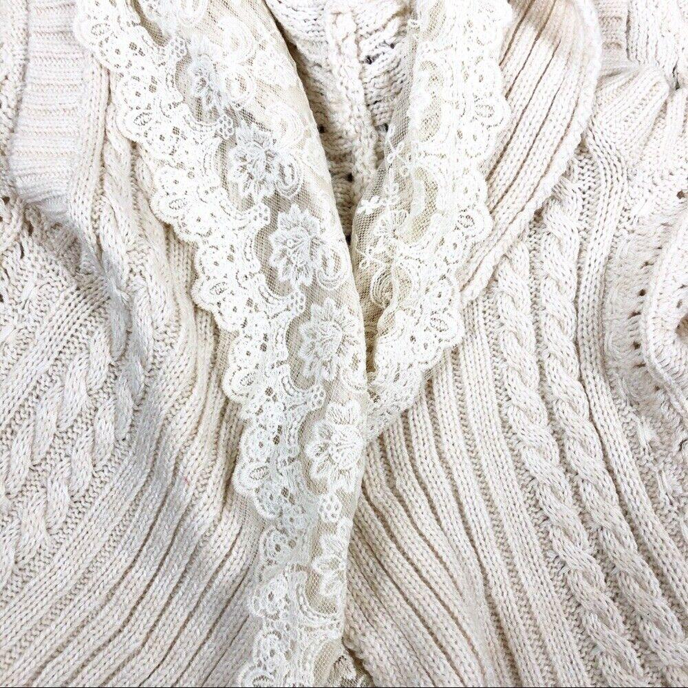 Flying Tomato cream lace crochet sweater vest - image 4