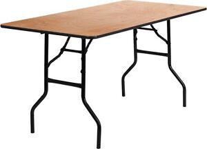 30 X 60 Folding Table.Details About 30 X 60 Rectangular Wood Folding Banquet Table W Clear Coated Finished Top