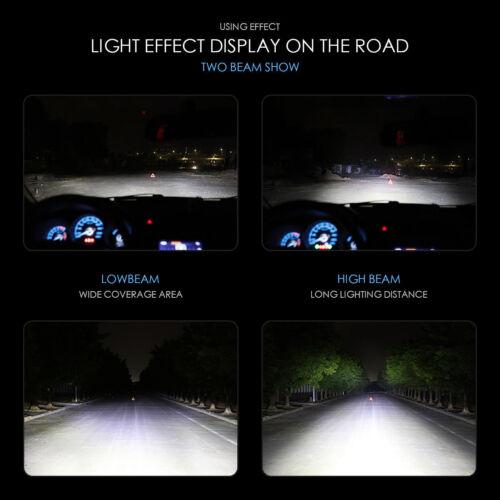 Combo H11 9005 5202 LED Headlight Blubs Kit Bright High Low Beam Fog Light 6000K