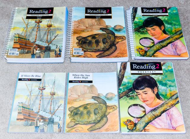 BJU Bob Jones (2nd grade) READING 2 SET - New Worktext/Booklinks COMPLETE SET!