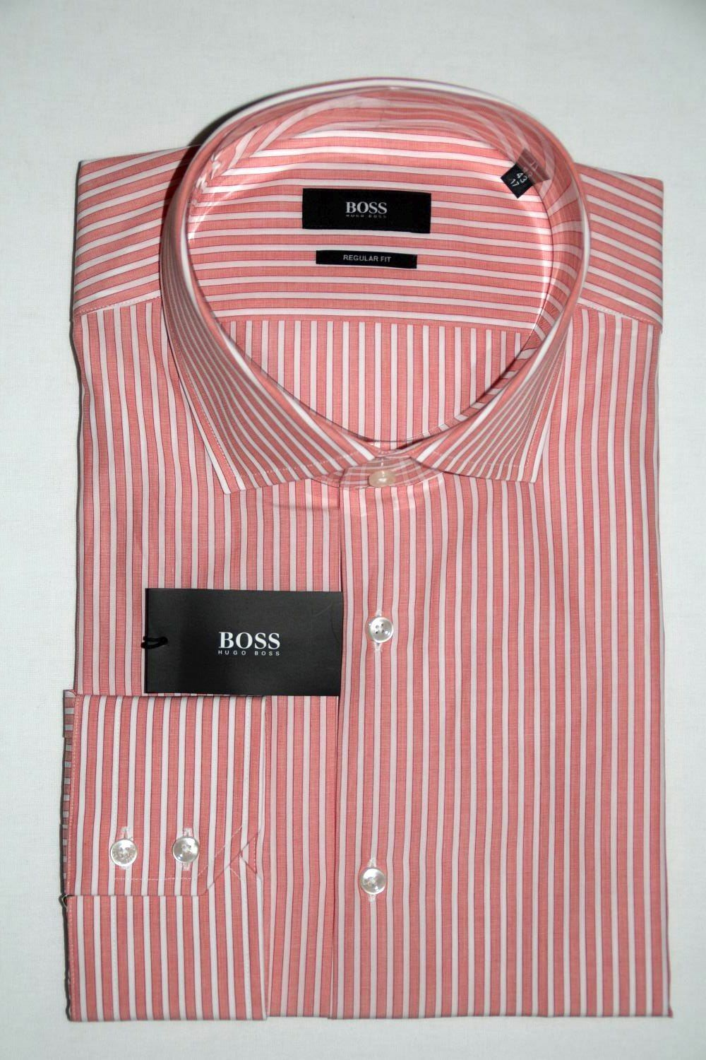 HUGO BOSS BUSINESSHEMD, Mod. Gordon, Gr. 43, Regular Fit, Medium Orange