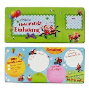 Das Bild Wird Geladen Einladungskarten Kindergeburtstag  Geburtstag Kindergarten Marienkaefer 8er Set