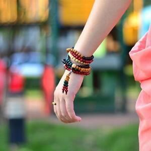 Sandalwood-Buddhist-Buddha-Colours-108-Prayer-Bead-Mala-Bracelet-Necklace-6mm-YT