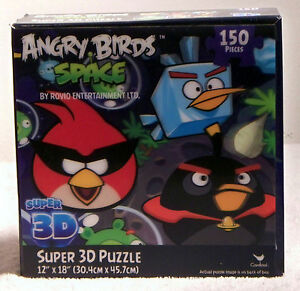 Angry birds space super 3d 150 piece puzzle by rovio entertainment image is loading angry birds space super 3d 150 piece puzzle voltagebd Images