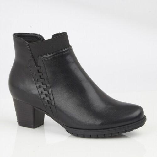 Cipriata ALESIA Womens Ladies Casual Side Zip Up Heeled Ankle Boots Black//Navy
