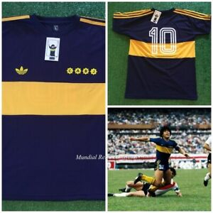 sports shoes bcd40 2e767 Details about Maradona Boca Juniors champion 1981 jersey maglia camiseta  (replica)