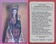 Santino Holy Card in plastica Santuario Madonna di Crea - Serralunga di Crea